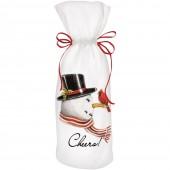 Retro Snowman Wine Bag