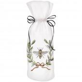Bee Olive Wreath Wine Bag