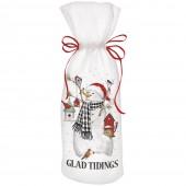 Birdhouse Snowman Wine Bag