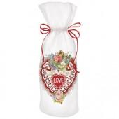 Valentines Card Wine Bag