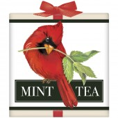 Cardinal Amaryllis Tea Box-Mint