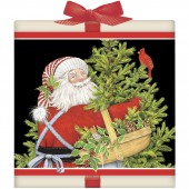 Santa With Tree Tea Box