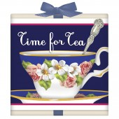 Blue Antique Teacup Tea Box