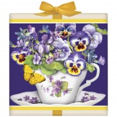 Teacup With Violas Tea Box