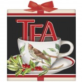 X-Mas Stacked Teacups Tea Box