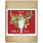 Holiday Cow Skull Wrapped Tea
