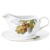 Oak Leaves Gravy Boat