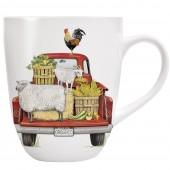 Red Truck Farmhouse Mug